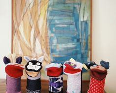 Hand Puppets - A gathering of hand puppets