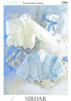Sirdar 3906 baby  cardigan vintage knitting pattern by Ellisadine, £1.00