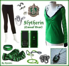 Slytherin Casual Wear - put together by Rynoko (me=StephieDriver)! :D