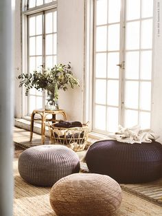 Summer inspiration 2018 from IKEA Ikea Living Room, Living Spaces, Lohals, Cool Rugs, Floor Pillows, Home Accessories, Family Room, Interior Design, Beige
