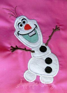 Frozen Snowman Applique design by AppliqueCrazy on Etsy Applique Designs, Embroidery Designs, Frozen Quilt, Frozen Snowman, Snowmen, Creative Ideas, Hair Bows, Quilt Patterns, Snowflakes