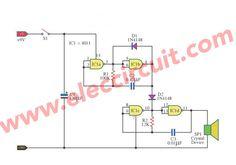 simple warble tone generator circuit eleccircuit com sound rh pinterest com Product Communication IC UM66 Data Sheet