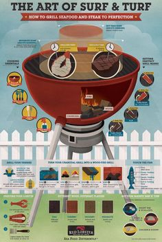 How to Grill Seafood and Steak to Perfection = THIS IS KINDA BRILLIANT, NEED A POSTER!