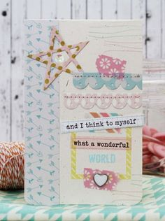 Wonderful World Card by Melissa Phillips for Papertrey Ink (February 2014)