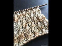 The Weekly Stitch: Twisted Stockinette Rib