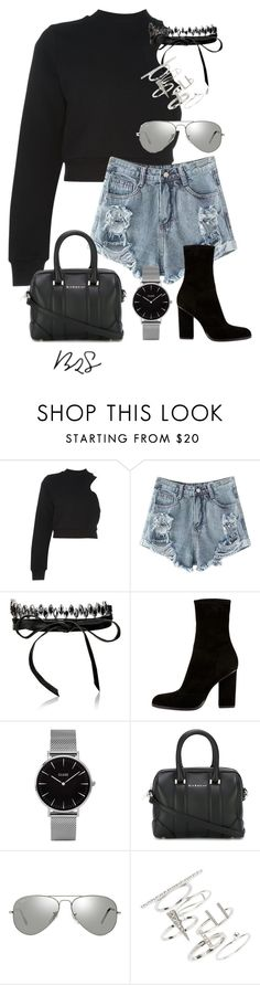 """""""#754"""" by blendingtwostyles ❤ liked on Polyvore featuring T By Alexander Wang, Fallon, Alexander Wang, Topshop, Givenchy and Ray-Ban"""