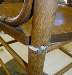 Repairing A Badly Broken Chair Leg. *Several Pics*