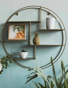 Circular Brass Display Shelf at Rose & Grey. Buy online now from Rose & Grey, eclectic home accessories and stylish furniture for vintage and modern living Home Accessories, Stylish Furniture, Soft Furnishings, Trending Decor, Dark Painted Walls, Accessories Display, Home Decor, Eclectic Home, Display Shelves