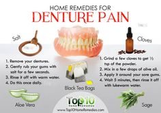 home remedies for denture pain