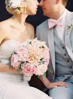 gorgeous dahlia + peony bouquet | Adam Barnes #wedding