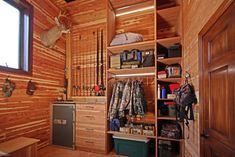 Hunting Closet in Garage Addition - rustic - closet - st louis - Adrienne Nienkamp