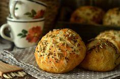 niebo na talerzu - Blog z przepisami na specjały domowej kuchni Muffin, Rolls, Breakfast, Recipes, Yum Yum, Brot, Morning Coffee, Buns, Muffins