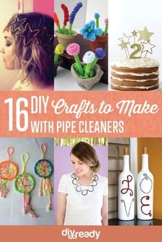 Check out 16 Cool DIY Crafts to Make with Pipe Cleaners by DIY Ready at http://diyready.com/16-cool-diy-crafts-to-make-with-pipe-cleaners/