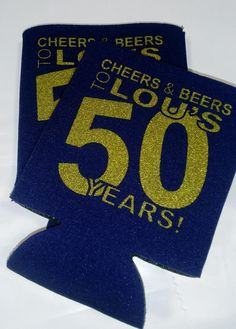 Cheers and Beers Birthday Koozies favors can coolers personalized Screen Printed includes a 1 color / 1 location lot size 6 to 100 screen print quick shipp Wine Country Gift Baskets, Gourmet Gift Baskets, 50th Birthday Party, Birthday Favors, Birthday Cakes, Beer Decorations, Gift Maker, Book Baskets, Beer Poster