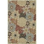 "Country & Floral Arbor 5'2""x7'5"" Rectangle Multi-Floral Area Rug - tropical - rugs - by RugPal"