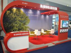 RADIOBARRIER stand at International Defence Exhibition & Conference (IDEX) 2013 in Abu Dhabi, UAE