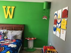Mario decorated room for a little boys room