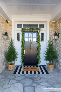 Christmas Front Porch (Sunny Side Up) My front porch is ready for Christmas! My post is full of details and sources! Christmas Door Wreaths, Christmas Porch, Elegant Christmas, Christmas Decorations, Holiday Decor, White Christmas, Holiday Ideas, Christmas Ideas, Merry Christmas
