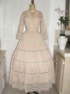 Fancy vintage s Mexican wedding dress