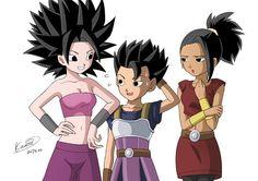 Caulifla Cabba Kale - More at https://pinterest.com/supergirlsart #kyabe #kabba #dragon #ball #super #dbs #dragonball #anime #girl #fanart