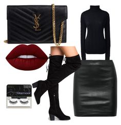 Day to night casual/dressed up by alisha-hanif on Polyvore featuring polyvore, fashion, style, Lands' End, The Row, Yves Saint Laurent, Lime Crime, Ardell and clothing