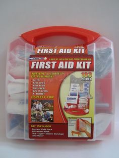 Braille Deluxe First Aid Kit also Low Vision kit available