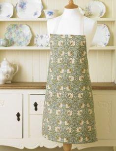 Licensed William Morris Pimpernel Green Floral Cotton Drill Apron:Amazon:Kitchen & Home