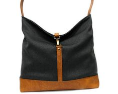 f1e55f9a3ff Black Hobo Bag, Slouchy Tote Bag, Vegan Handbag, Black Shoulder Bag,  Everyday