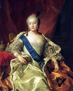 Elizaveta, Empress and Autocrat of All the Russias (born 1709, acceded 1741, died 1762), painting (1760), by Charles-André van Loo (1705-1765).