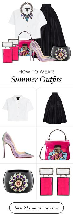 """""""Rebel Princess"""" by stylebystevinkyle on Polyvore featuring Naeem Khan, Marc by Marc Jacobs, Chanel, Furla, Christian Louboutin, ADORNIA and Erickson Beamon"""