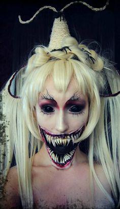 einmalige halloween schminken ideen party frisuren
