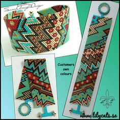 Peyote Stitch Beading Bracelet Pattern Crazy Zig Zag 8