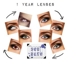 """1 Year Lenses"" by colouredcontacts on Polyvore featuring beauty and House of Doolittle"