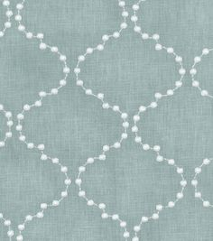 Upholstery Fabric-HGTV Home Pearl Drop Emb Mist
