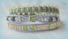 meadows periwinkle leather triple wrap venetian by WhrapsodyWraps, $42.50