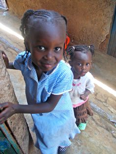 Little girls from the largest slum in Africa, Kibera - they were fascinated with my camera.
