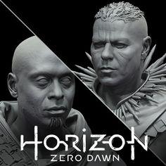 Horizon Zero Dawn - Sylens and Helis, Ben Erdt on ArtStation at https://www.artstation.com/artwork/wnOYg