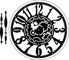 Clock w/Angel Wing (Steampunk Series) Die