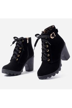 Fashion Autumn&Winter Women Chunky Block High Heel Ankle Boots Winter Nubuck Buckle Lace-Up Martin Boot Shoes(Black) | ราคา: ฿982.80 | Brand: Unbranded/Generic | See info: http://www.topsellershoes.com/product/51015/fashion-autumnwinter-women-chunky-block-high-heel-ankle-boots-winter-nubuck-buckle-lace-up-martin-boot-shoesblack