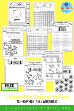 I Know My Colors Printable Work Book Series 9 Page