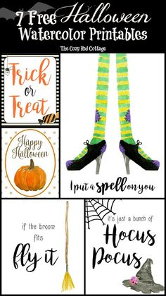 7 Free Halloween Watercolor printables Halloween costumes Halloween decorations Halloween food Halloween ideas Halloween costumes couples Halloween from brit + co Halloween Cute Halloween Costumes, Halloween Home Decor, Halloween Signs, Holidays Halloween, Halloween Treats, Halloween Diy, Happy Halloween, Halloween Decorations, Free Halloween Font