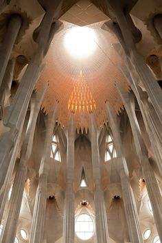 White Cathedral inspiration | Interior of Sagrada Familia cathedral in Barcelona | photo credit: Jennifer Lycke
