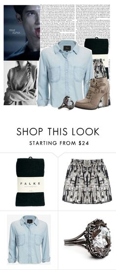 """Heart Moniter ~ Tw Challenge Group"" by jen-the-glader ❤ liked on Polyvore featuring Falke and Rails"