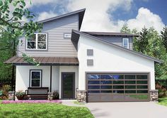 Angular 3 Bed Modern Home Plan - 31140D | 1st Floor Master Suite, CAD Available, Contemporary, Jack & Jill Bath, Loft, Modern, PDF | Architectural Designs