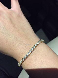 5.5ct 14K White Gold Blue Diamond Women/'s Bracelet Tennis Bracelet Wedding
