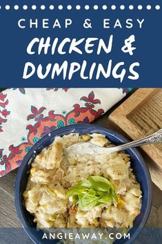 Sometimes you can be a gourmet chef, and sometimes you just want to make a giant pot of hearty, filling goodness that'll feed a bunch of people at once and not cause you any stress at all. Enter my world famous crockpot chicken and dumplings recipe! With just a handful of inexpensive ingredients, you can have a heaping pot of bubbling, rich stew. Trust me - you will make this recipe again and again!