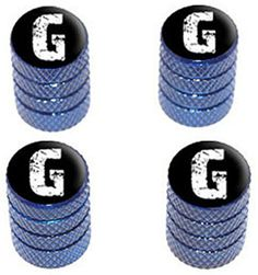 """(4 Count) Cool and Custom """"Diamond Etching White Letter G Top with Easy Grip Texture"""" Tire Wheel Rim Air Valve Stem Dust Cap Seal Made of Genuine Anodized Aluminum Metal {Ocean Mercedes-Benz Blue and Black Colors - Hard Metal Internal Threads for Easy Application - Rust Proof - Fits For Most Cars, Trucks, SUV, RV, ATV, UTV, Motorcycle, Bicycles} mySimple Products http://www.amazon.com/dp/B00YI378N2/ref=cm_sw_r_pi_dp_-tBEwb1EF3K8P"""