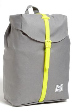 Grey is so not boring. Love this Herschel Supply Co. Backpack.