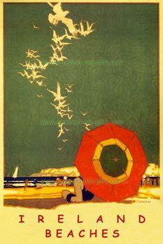 Irish Vintage Advertising - Ireland Beaches - old vintage tourism ...