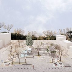 A proposal for the redesign of two public Squares in the city of Trikala, Greece. The proposal was awarded the prize in the architectural competition organized by the city. Landscape Architecture Design, Architecture Visualization, Modern Architecture House, Landscape Plans, Architecture Drawings, Sustainable Architecture, Urban Landscape, Classical Architecture, Ancient Architecture